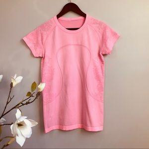 Lululemon shortsleeved Swiftly tech top in Pink